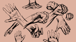 Hands 2 min poses! [Usable as References] by Dex91