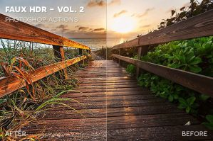 Faux HDR Photoshop Actions - Vol. 2 by photographypla-net