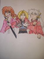 Crossover,Kenshin,Ed,Inuyasha by sonic4568