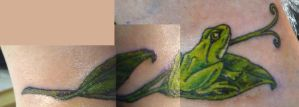 frog ankle tatt by hoviemon