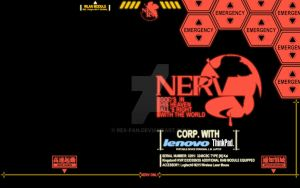 NERV Wallpaper for ThinkPad X201i running Win7 by Rex-Fan