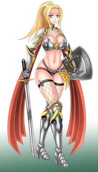 Eroge CG - Lind - Armored Girl by Mirayna