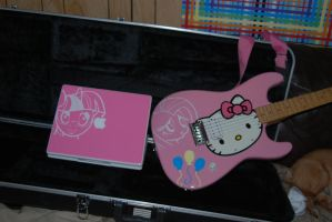 Party Guitar and iBook by Socksthewarrior