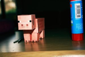 Derp pig - Minecraft by fayechan