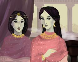 Byzantine Ladies by akitku