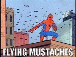 FLYING MUSTACHES!! by SorceressRaven