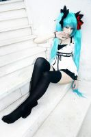 Cosplay Miku Vocaloid by IchikoXares