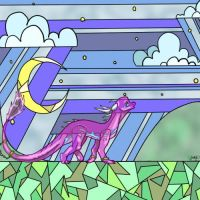 Commission: Stained Glass Skies by salad-farts