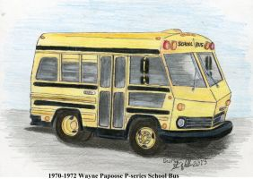 1970-1972 Wayne Papoose P-series School Bus by Deorse