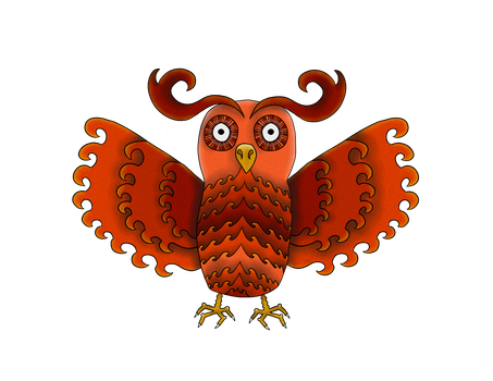 Red Owl by NoccieTheOwl