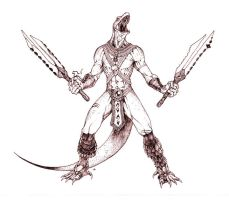 Aztec Komodo Warrior... by edcomics