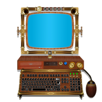 Steampunk Computer by pendragon1966