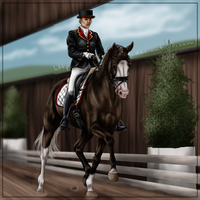 Summer Dressage Show by Minnie1994