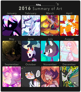 2016 art summary by Woestijn
