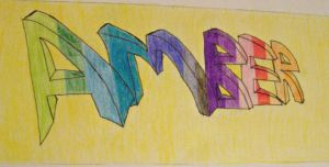 My Graffiti Name by 9-AmBeR-6