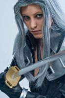Sephiroth with the Masamune by Yukilefay