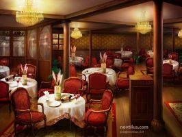 Ala Carte Restaurant of Titanic by novtilus