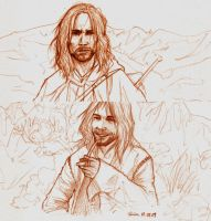 Aragorn sketches by Shiva-Anarion