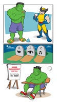 Hulk vs. Wolverine by feisarmatic
