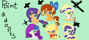 mlp rarity x applejack POINT adoptables ::CLOSED:: by tiffanykip