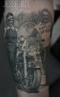 Vintage Harley Tattoo by jesserix