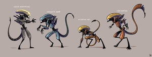 Xenomorph Roster by inkjava