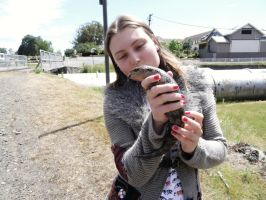 The Blue Tongue Lizard and I. by me-and-mojo