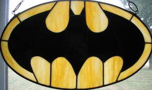 Batman Symbol Stained Glass by AutobotWonko