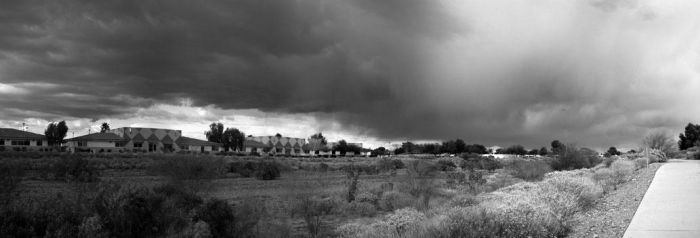 Rain Clouds - Panoramic by kriegs