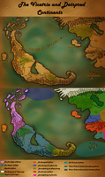 Physical and political map  of the Known World by Diagon-and-Draco