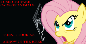 My Little Skyrim - Fluttershy by palafox129