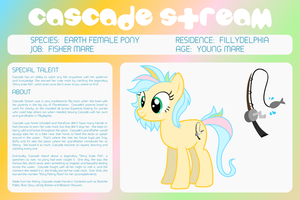 MLP OC Bio Sheet : Cascade Stream by outlaw4rc
