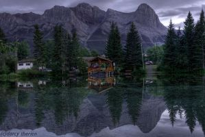 Reflections of Canmore by DTherien