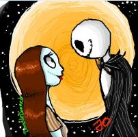 Jack and Sally by DoodleDoomed