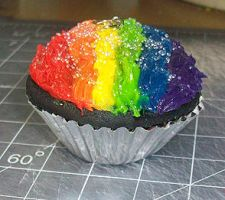Misc. - giant rainbow cupcake by ShiversTheNinja