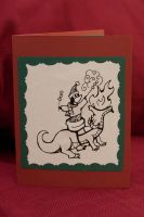 Dragon Smores Christmas Card by pinguino