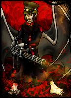 Flying Armed Zombie by Carlie-NuclearZombie