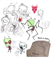 Invader Zim sketches by Sapphire4723