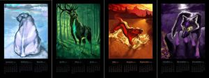 Elemental Calendar by noiselessness
