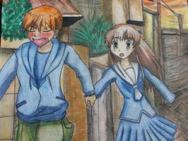 Tohru and Kyo So walk already by bunnyrabb567