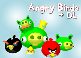 MMD - Angry Birds + DL by RoseBeri