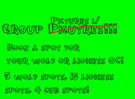 Group Picture! SIGN UP! Get in quick! by BlackWolf1112-ADOPTS