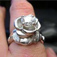 Rose wedding ring set by nellyvansee