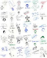 Footbie Autographs and Doodles by lightazland77
