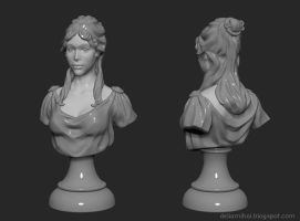 Girl Bust By Delira by delira