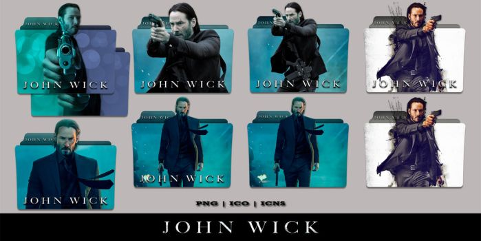 John Wick (2014) Folder Icon Pack by Bl4CKSL4YER