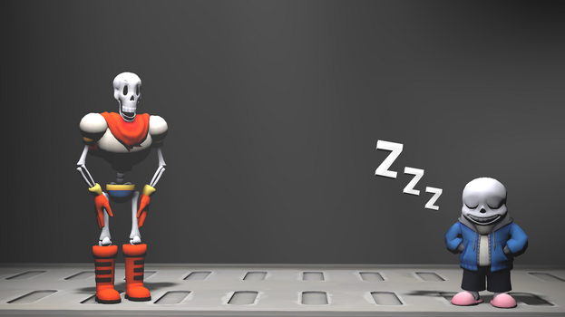 [SFM] Papyrus and Sans by The--Signmanstrr