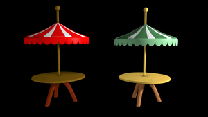 [DL]Umbrella Table by Nein-Skill