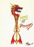 King of Dragons Keyblade by Tyxerus