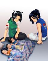 Sofy and Sasuke's kids by natale